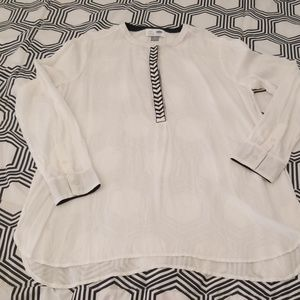 Old Navy White Tunic with Black and white detail